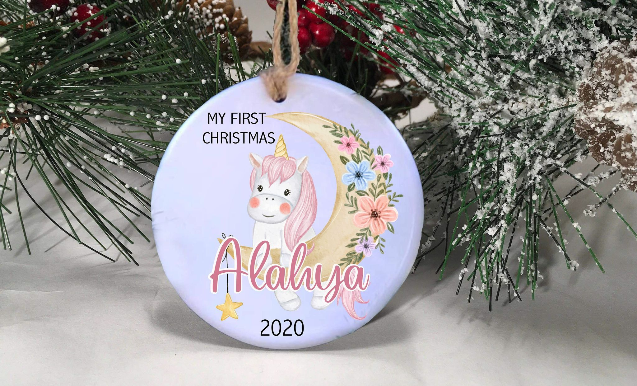 Babys First Christmas Ornament Personalized Baby S First Etsy Baby First Christmas Ornament Personalized Christmas Ornaments First Christmas Ornament
