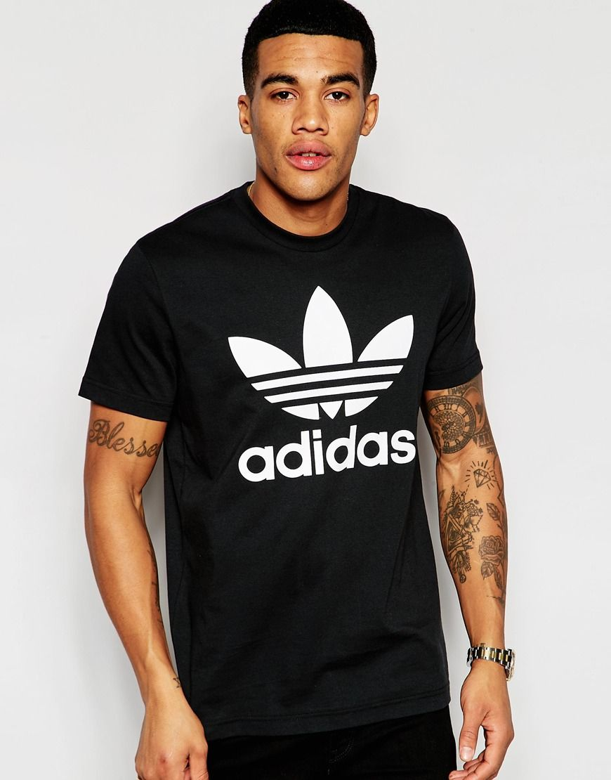 adidas+Originals+T-Shirt+With+Trefoil+Logo+AJ8830
