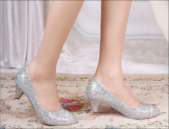 35 Beautiful Low Heel Wedding Shoes