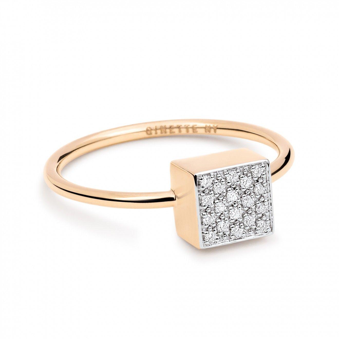 Ginette NY Large Wise 18-karat rose gold ring HIcnp