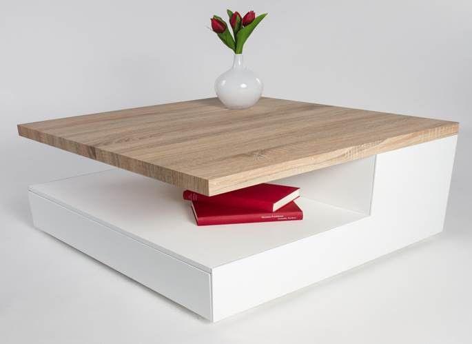 Table Basse Bois Et Blanc