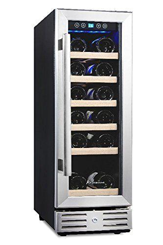 Kalamera 12 Builtin Wine Cooler 18bottle Stainless Steel Door Digital Temperature Control Built In Wine Cooler Built In Wine Refrigerator Wine Refrigerator