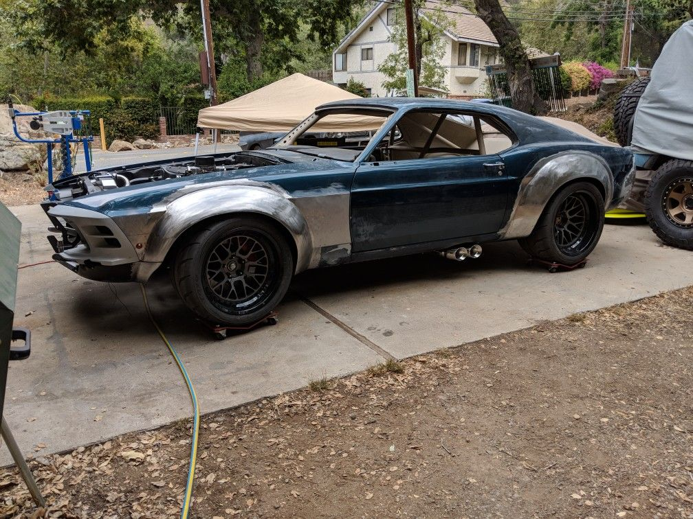 1970 Widebody Mustang In Steel Flares Widebody Mustang Mustang Cool Cars