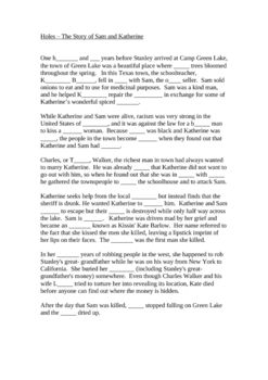 This single page Word document is a synopsis of the story of Sam and Katherine. Students can demonstate their understanding of this sub-plot by com...