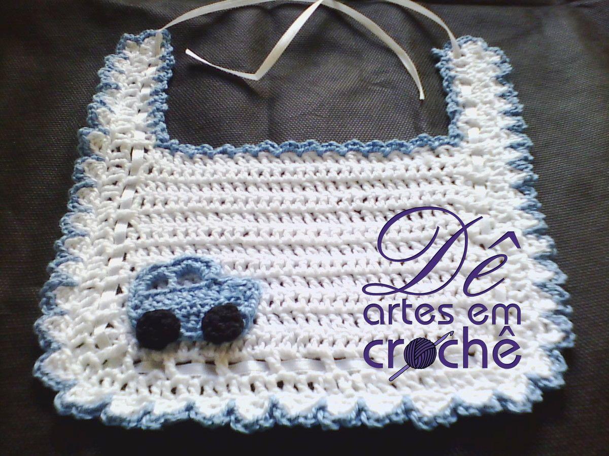 Babador infantil em Crochê, by Dê Artes em Crochê.