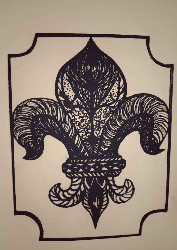 Black Lily By Blackzen888 геральдическая лилия Fleur De Lis
