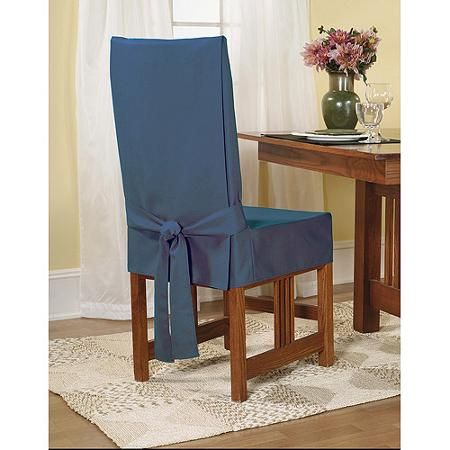 Sure Fit Cotton Duck Shorty Dining Chair Slipcover Slip