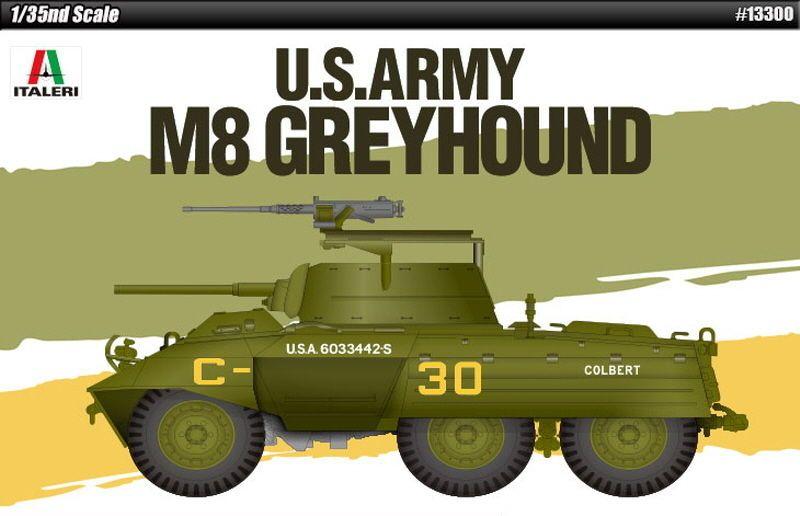 Academy Hobby Pla-Model Kit 1/35 US Army M8 GREYHOUND #13300 of Italeri #Academy