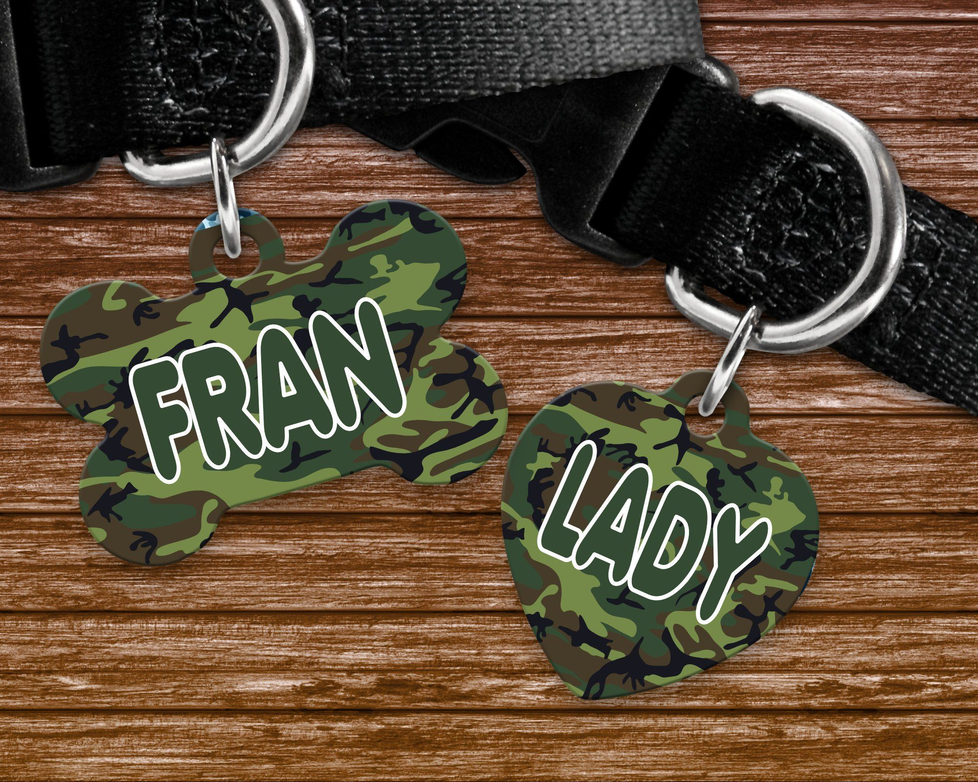 Green camo, camouflage background pet tag, dog badge for collar  #art #design #giftguide #handmade #designtimegnc #gifting #gift #gifts #giftideas #birthday