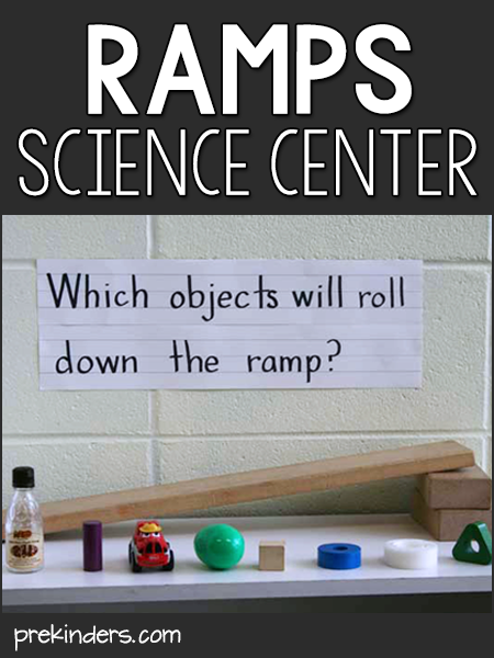 Ramps in the Science Center #preschool