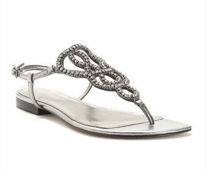 Silver Beaded Wedding Sandals For A Destination