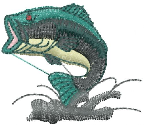 Free Big Mouth Bass Embroidery Design Annthegran Free Embroidery