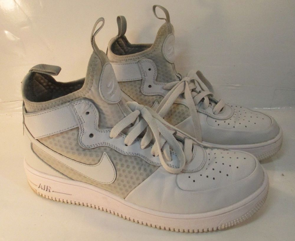 Rare Vintage Nike Air Force 1 High Top Hi Top Triple White Shoes Men S 8 5 Nike Sneakers Vintage Nike Nike Air Force Nike Air