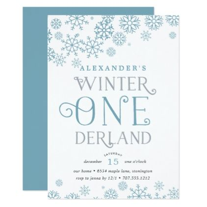 winter wonderland first birthday party invitation birthday gifts