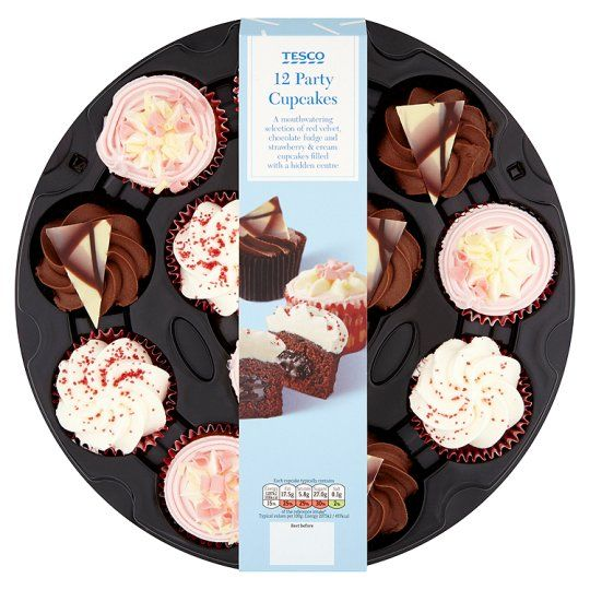 Tesco 12 Party Cupcakes Groceries Tesco Groceries Desserts for