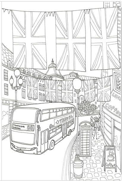 GRACE LONDON MADE IN KOREA Coloring Book For Children Adult Graffiti Painting Drawing