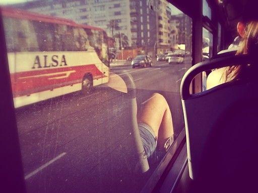Autobuses saliendo de Cádiz