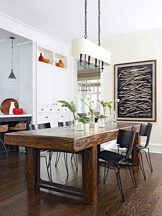 Midern In Wood Home Kitchens Kitchen Dining Room Home