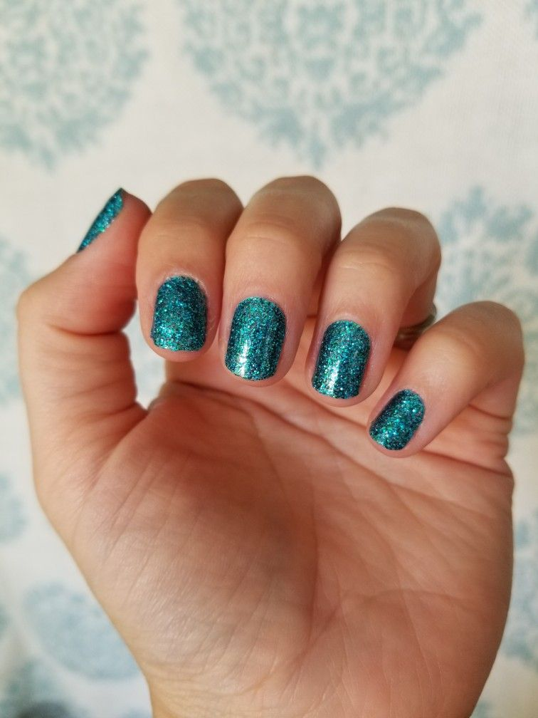 Color Street Blue Lagoon Such An Awesome Teal Glitter Color Street Nails Color Street Nail Designs