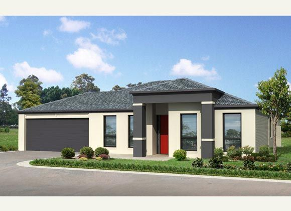Single storey flat roof house plans in south africa for African house plans