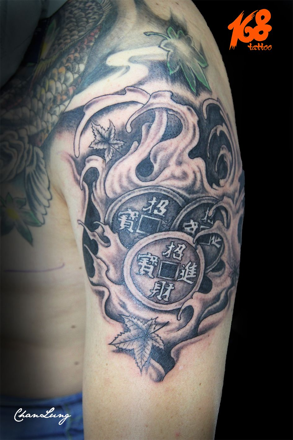 luck Chinese coin tattoo | my Tattoo artwork | Tattoos, Cool tattoos