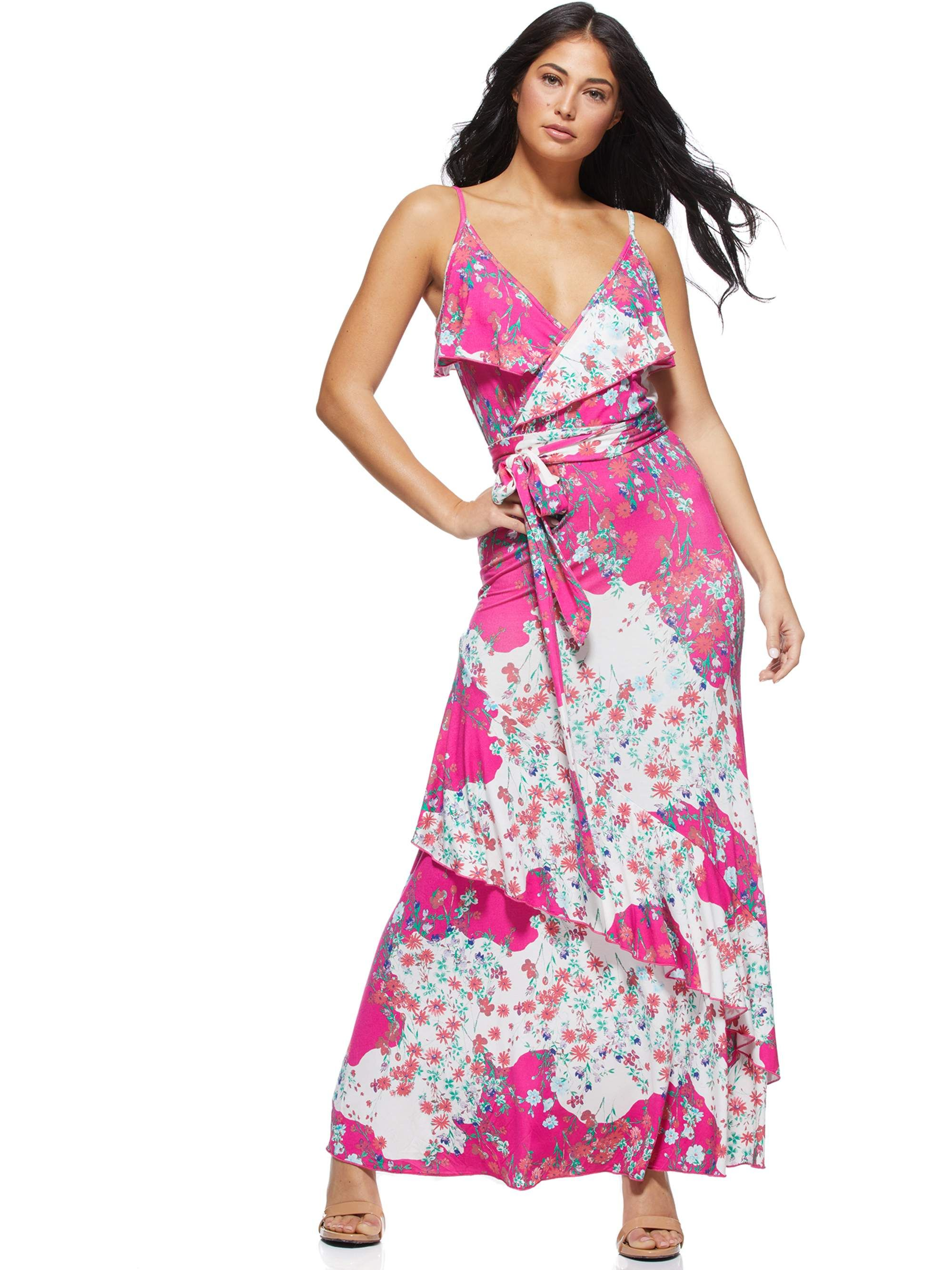 Sofia Jeans By Sofia Vergara Sofia Jeans By Sofia Vergara Faux Wrap Tossed Bouquets Maxi Dress Women S Walmart Com Maxi Dress Womens Maxi Dresses Womens Wrap Dress [ 2667 x 2000 Pixel ]