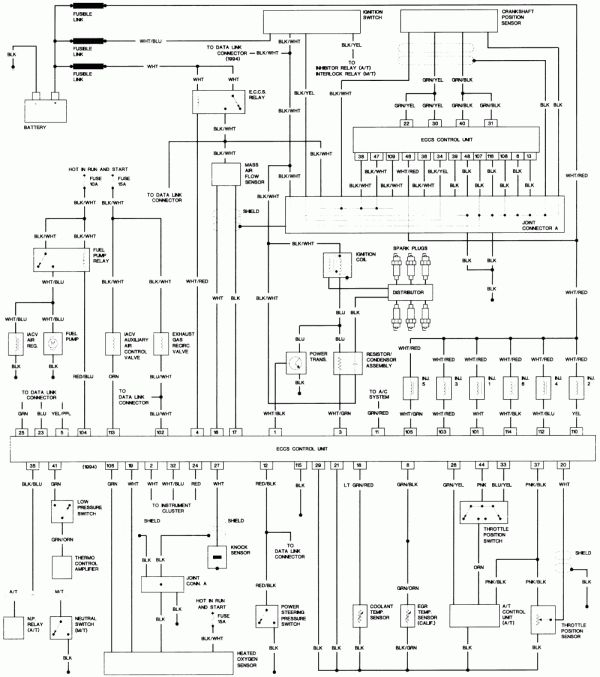 headlight wiring diagram for 1994 nissan pickup  wiring