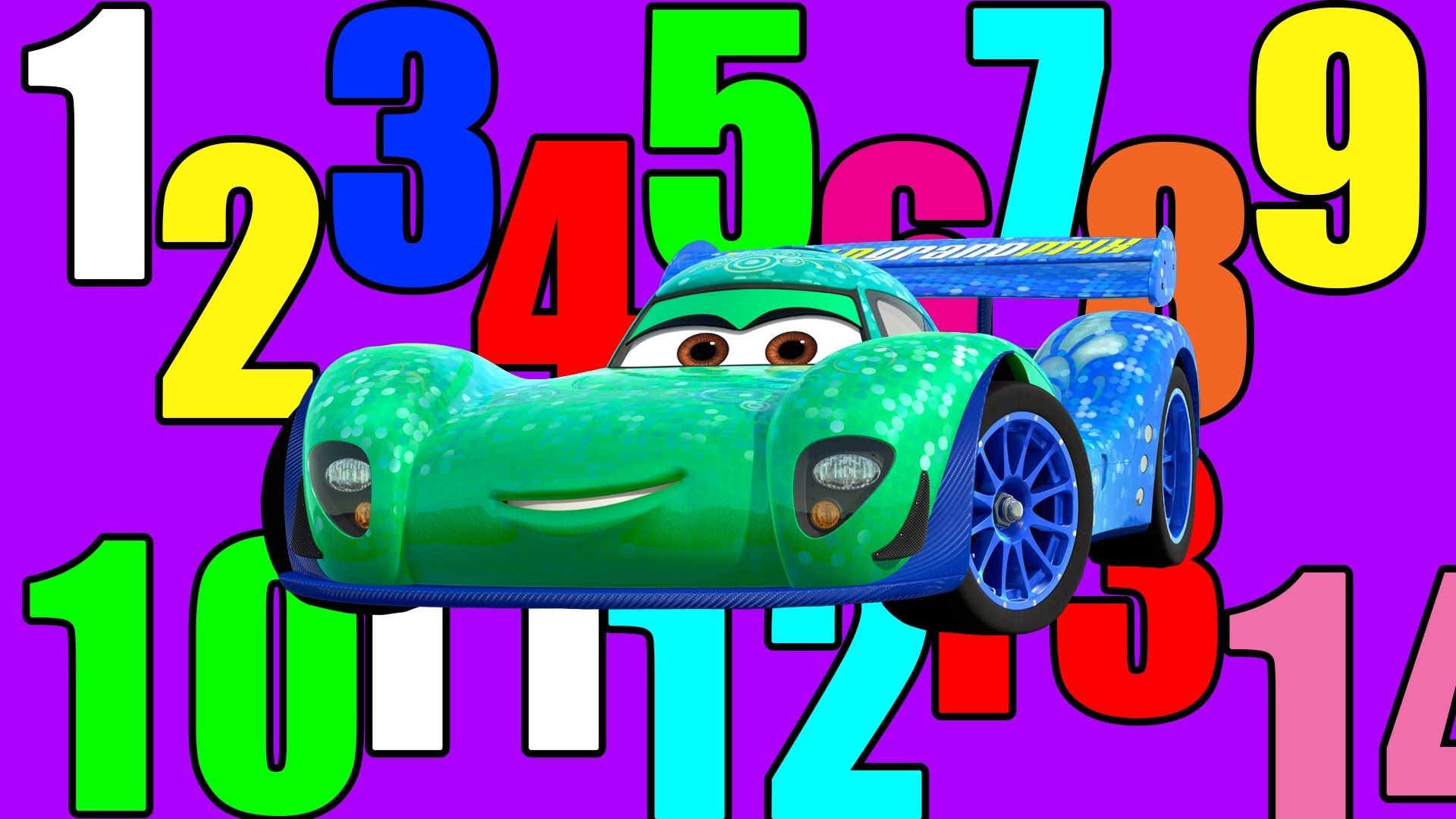 Learn numbers and counting with your Disney Pixar Cars and