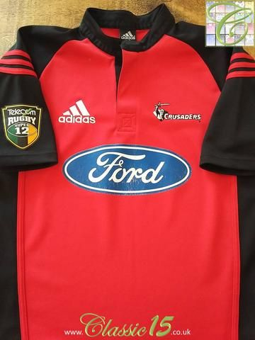 Relive Crusaders  2001   2002 Super 12 seasons with this original Adidas home  rugby shirt. f8b49660d