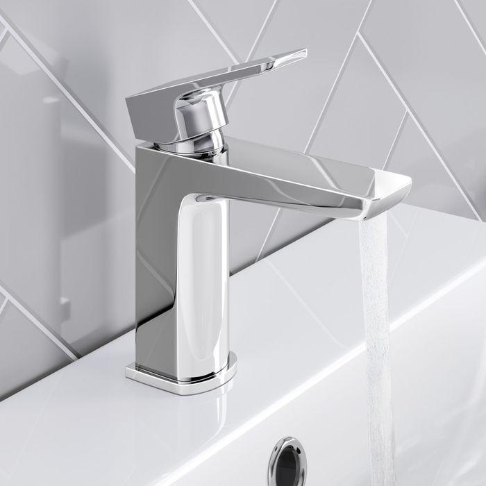 Cube Chrome Sink Mixer Tap Soak