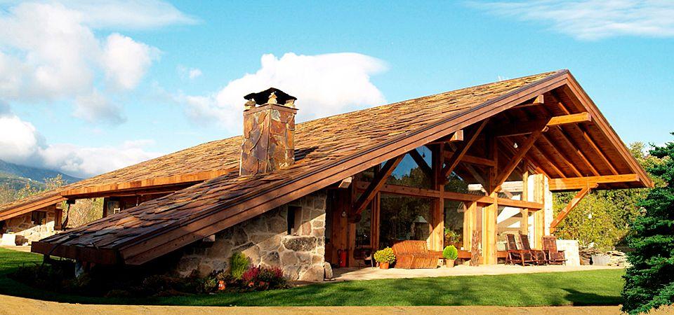 Imagenes de casas rusticas rustic mis ideas pinterest for Fachadas de cabanas rusticas