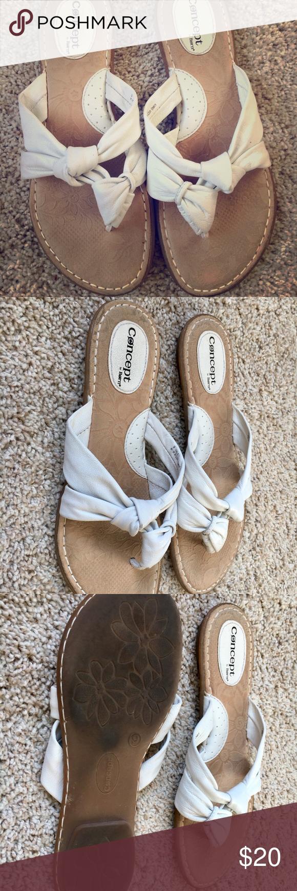 Sandals Leather white sandals Born