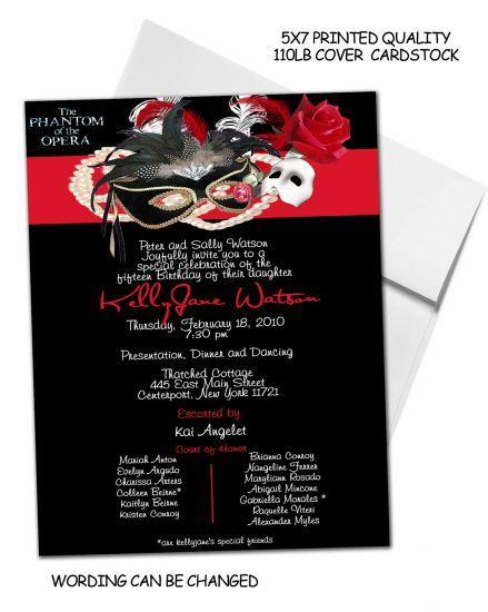 7722a5946a95e7385e7c11c245505409 phantom of the opera invitation cards 3 phantom of the opera,Phantom Of The Opera Invitations
