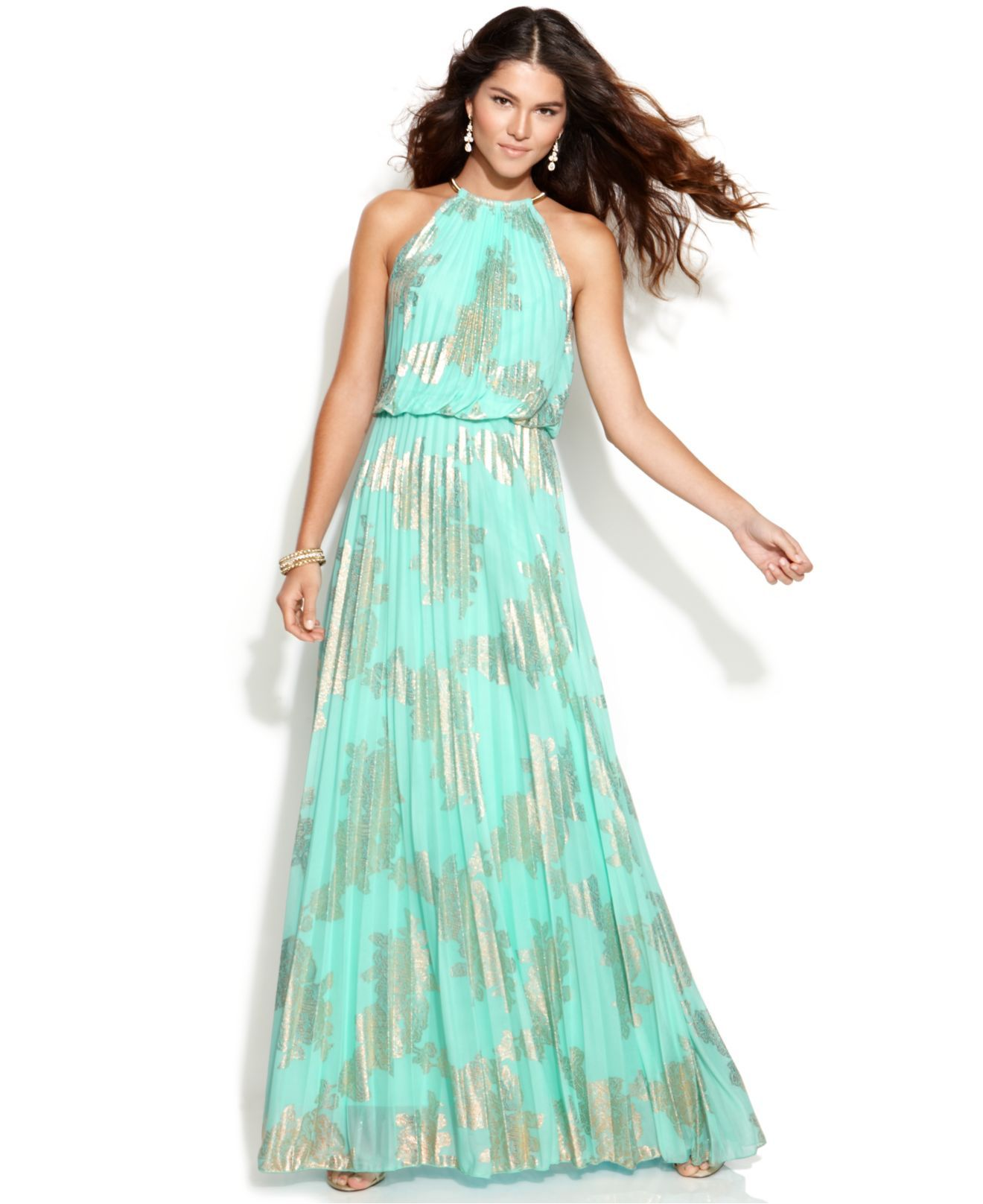 Xscape 2195- 2225 Metallic-Print Halter Gown. Taille 36 - 40 ...