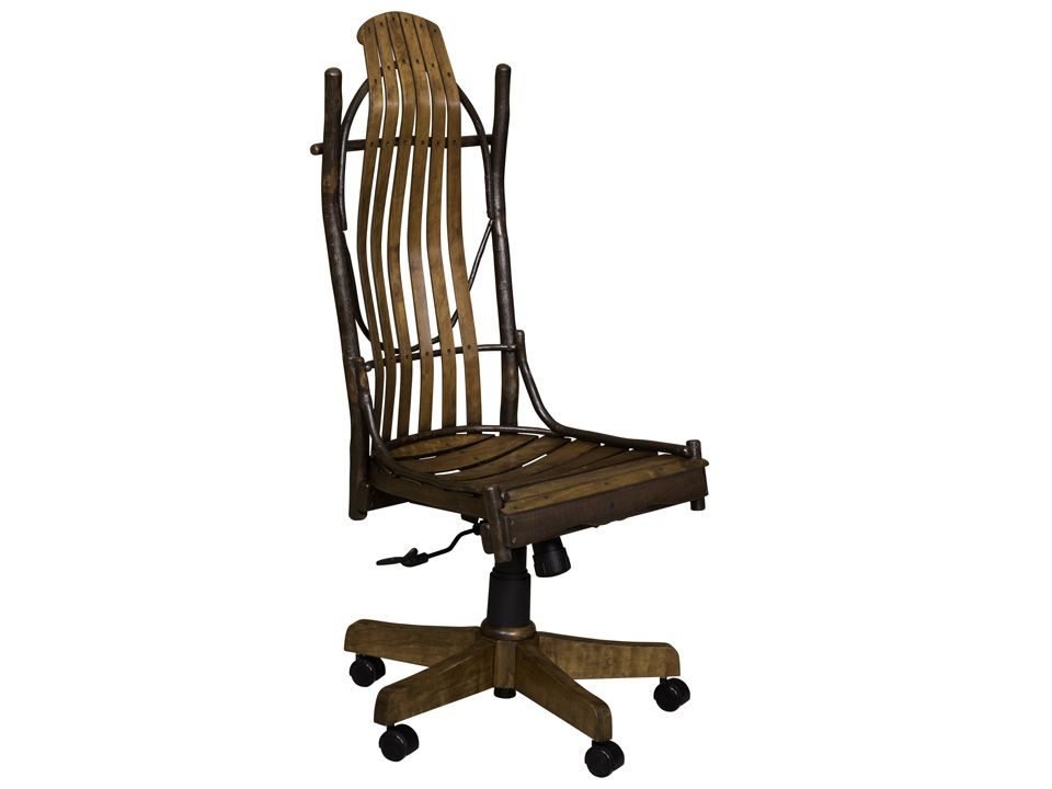 Park Art|My WordPress Blog_Rustic Desk Chair With Arms