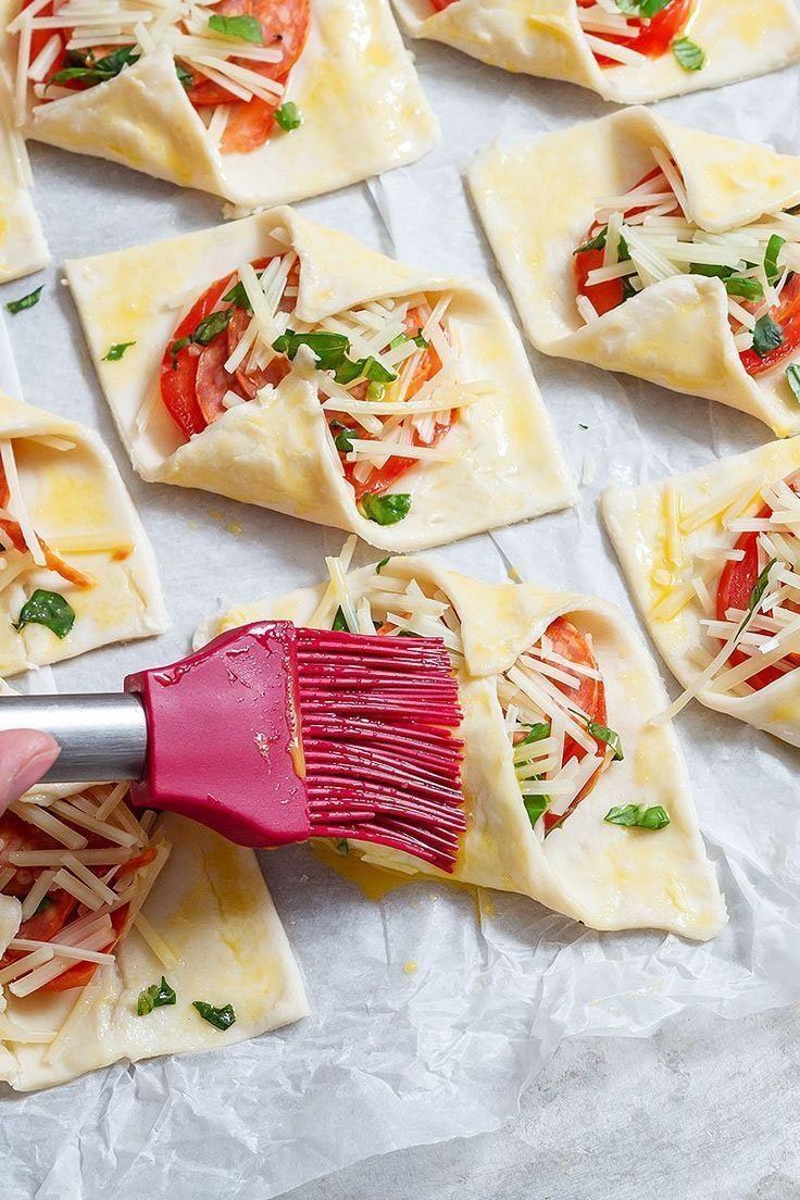 Photo of Puff appetizers recipe #tomato #basil #caprese #puff #entertaining