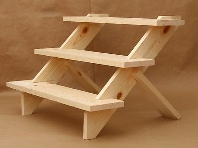 Collapsible Wooden Riser Display Shelve Step Riser Trade