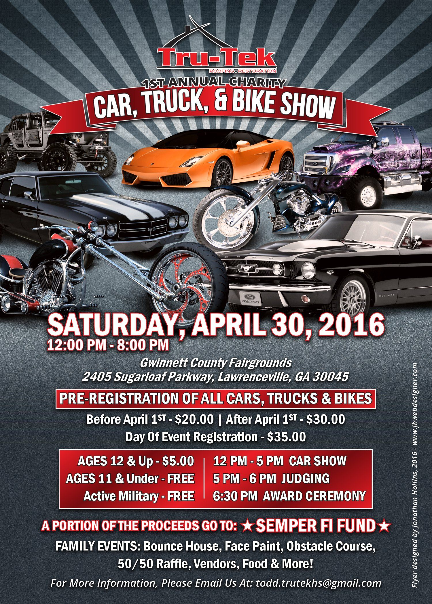 Tru Tek Car Truck Bike Show Flyer Jh Web Designer Blog With