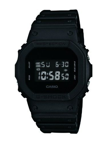 casio dw 5600bb 1er g shock montre homme quartz digital cadran noir bracelet r sine. Black Bedroom Furniture Sets. Home Design Ideas