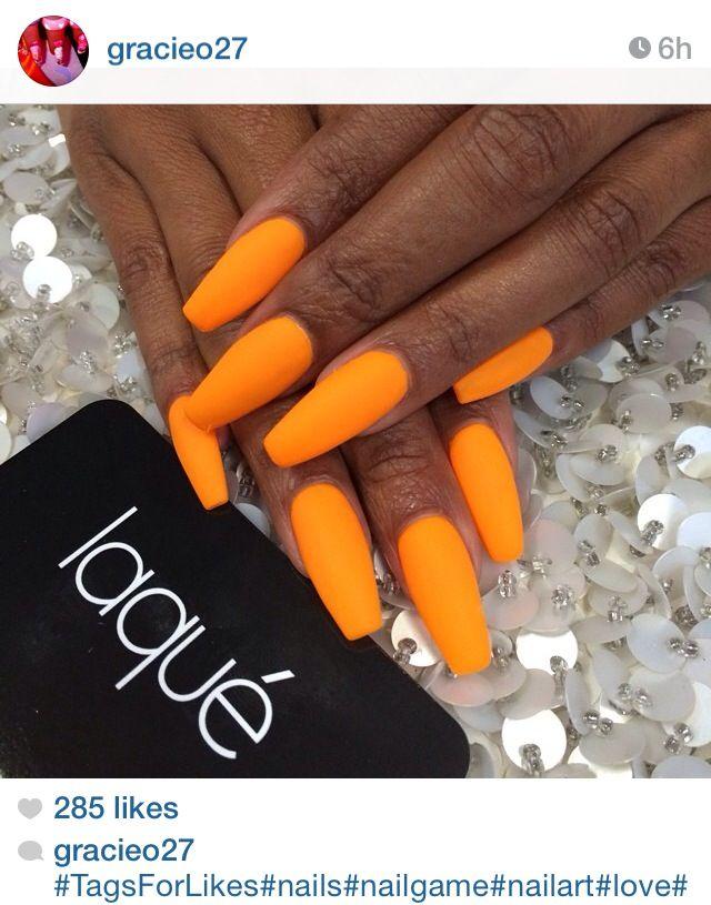 Pinterest Follow Me Xxlatykka Snapchat Xa Ja Orange Nails Nails Hot Nails