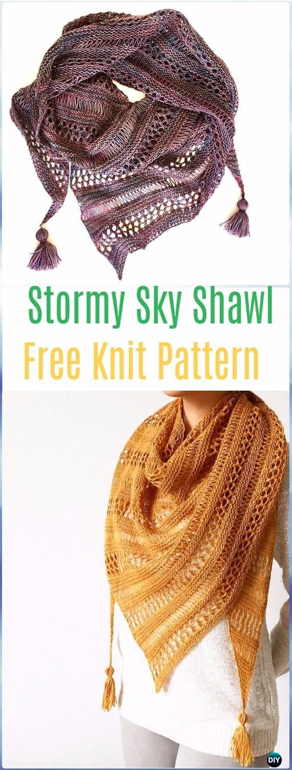 Knit Wrap Shawl Patterns and Tutorials