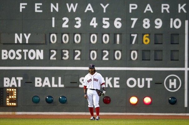 4/21/12 Yankees come down from 9-0 to beat the Red Sox 15-9. Texiera and Swisher both with 6 RBIs
