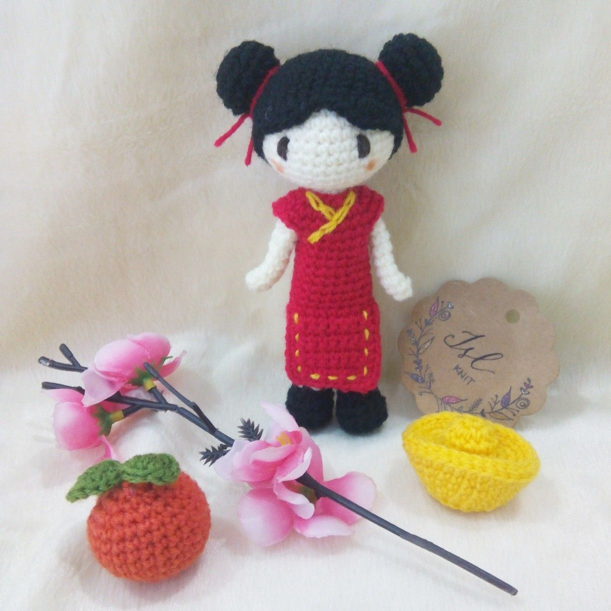 crochet chinese new year girl | Christmas ornaments ...