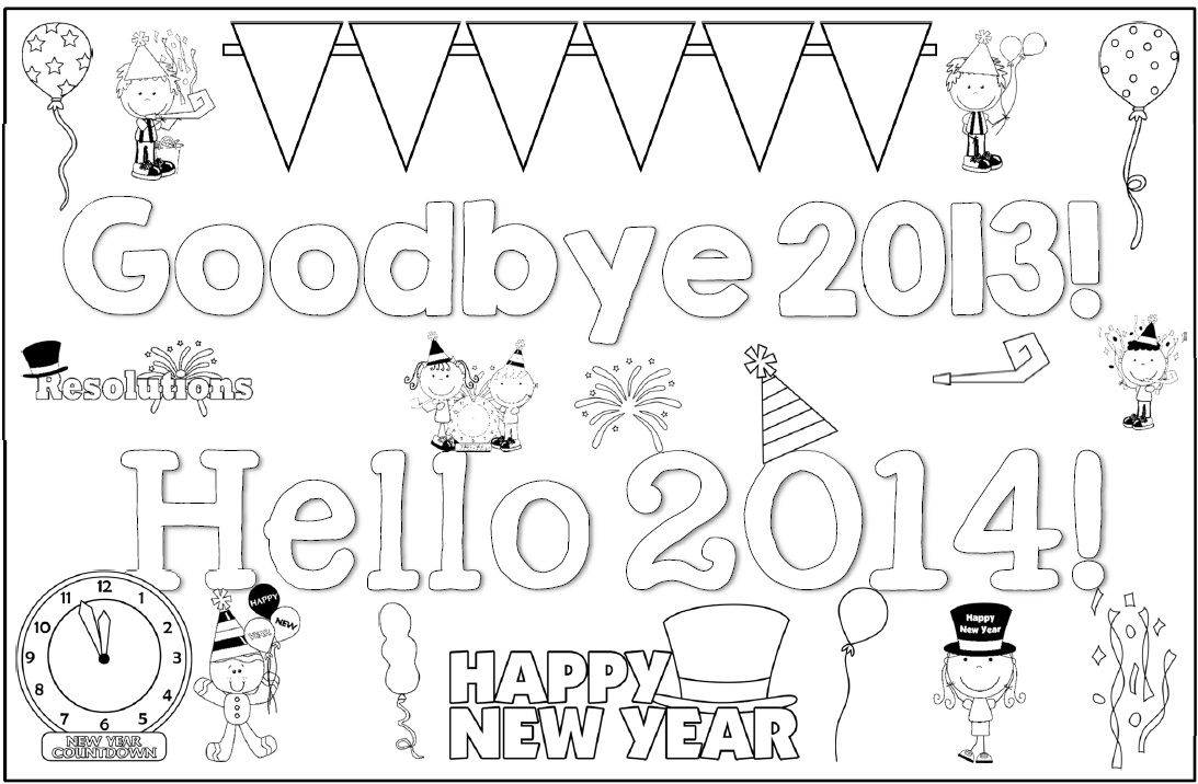 End of Year Writing Printables: Goodbye 2013 Hello 2014