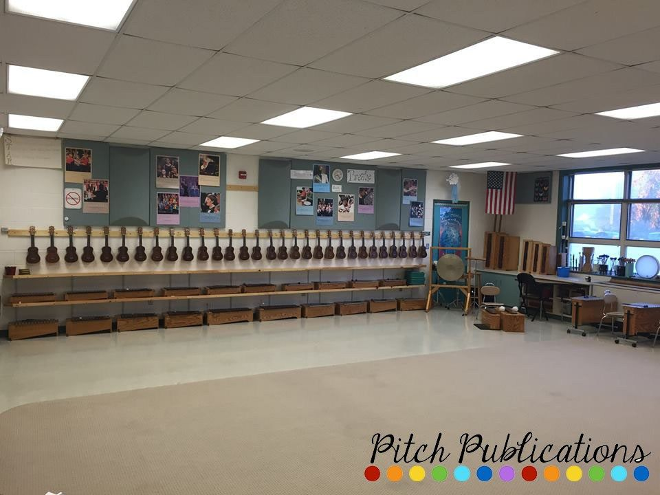 Elementary Music Classroom Decorations ~ Ukulele storage ideas for the music classroom elementary