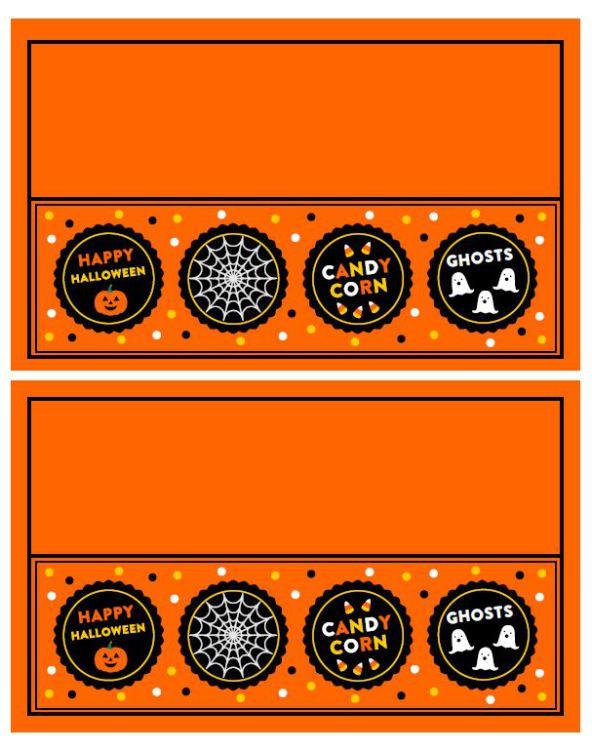 bag topper-- http://blog.onlinelabels.com/2014/10/20/free-halloween-printable-party-kit-orange-black/