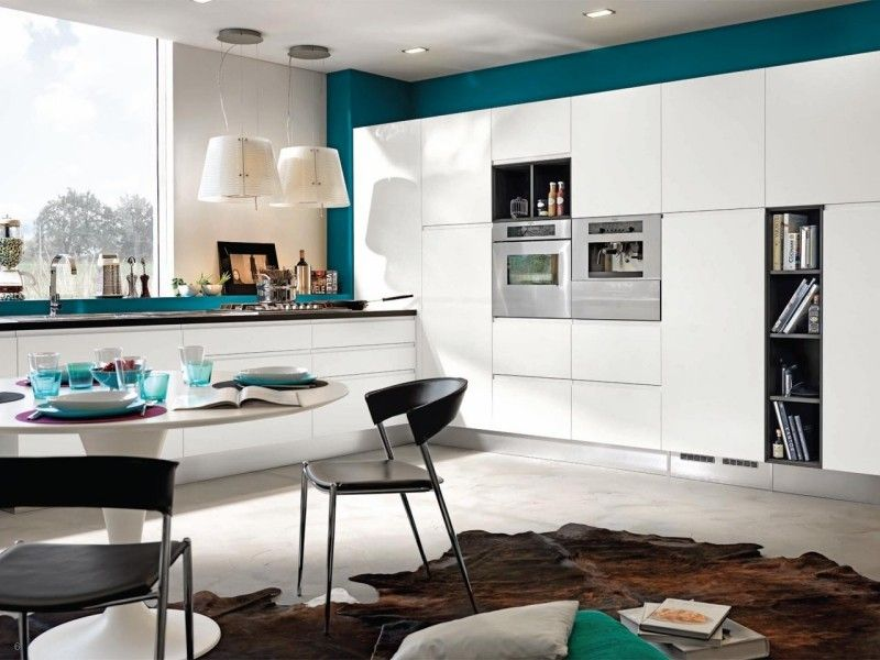 Beste Farbe für Küche - Türkisblau und Weiß hhh Pinterest - esszimmer braun grun