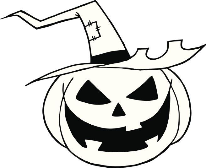 Black and White Pumpkin With Hat   dibuix pintat habitacio nena ...