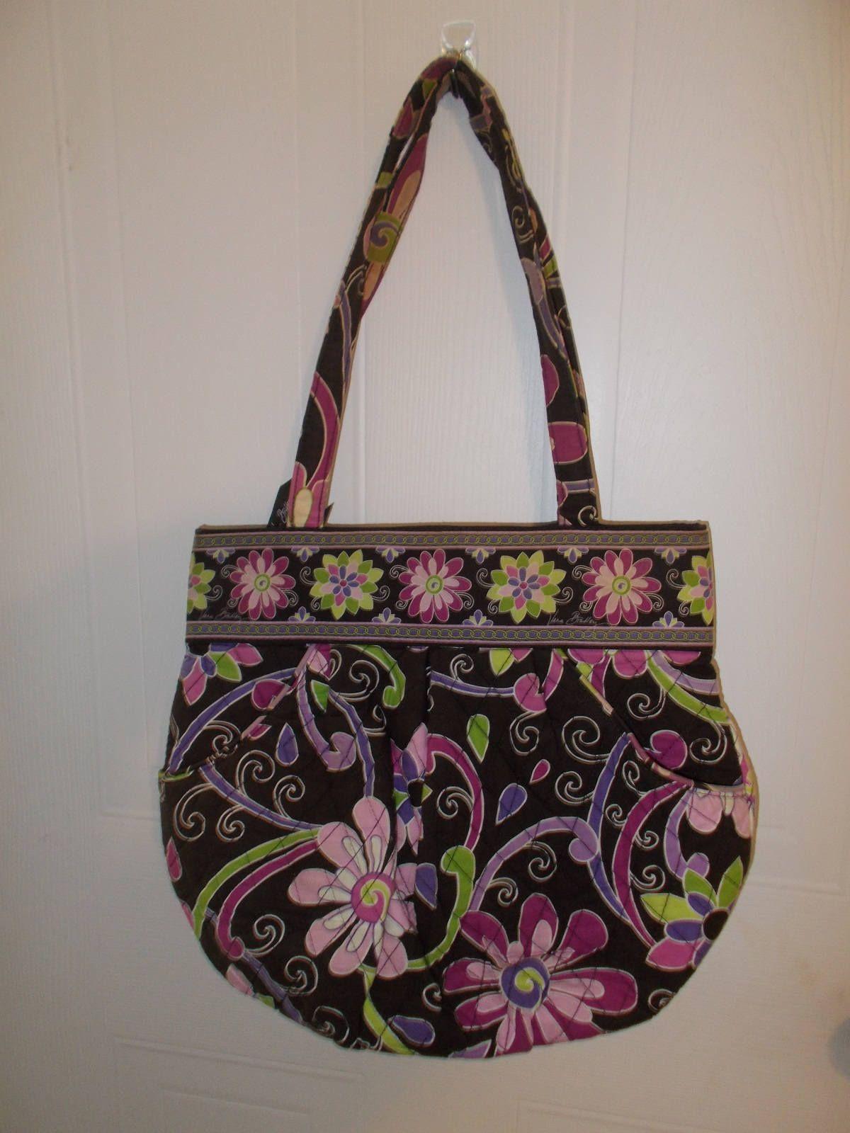 Vera Bradley Brown Pink MOD Floral Shoulder Bag Purse by MySewingParlor on  Etsy 9121bfba6bc39