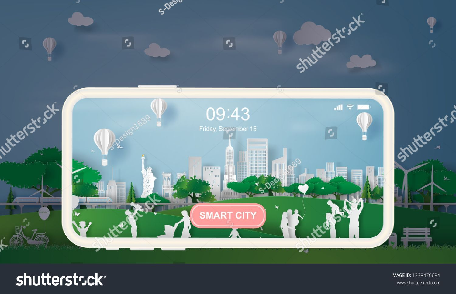 Paper art style of eco landscape in the New York City America with happy family having fun,People big family enjoy fresh air in outdoor park,illustration design ecology smart city concept vector. #Sponsored , #SPONSORED, #happy#America#City#People #art #Eco #Free #Landscape #paper #Royalty #stock #style #Vector